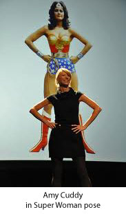 Amy Cuddy in Super Woman post