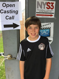 Griffen at casting call